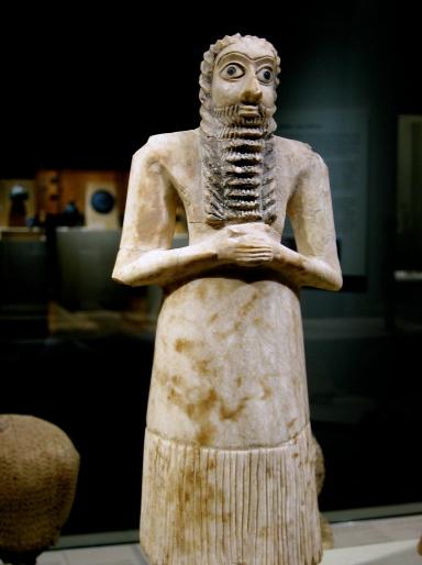 Figure sumérienne retrouvée à Tell-Asmar (Irak) - Crédit Xuan Che