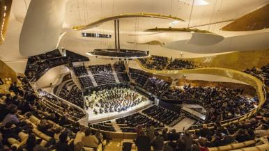 Intérieur de la Philharmonie de Paris,