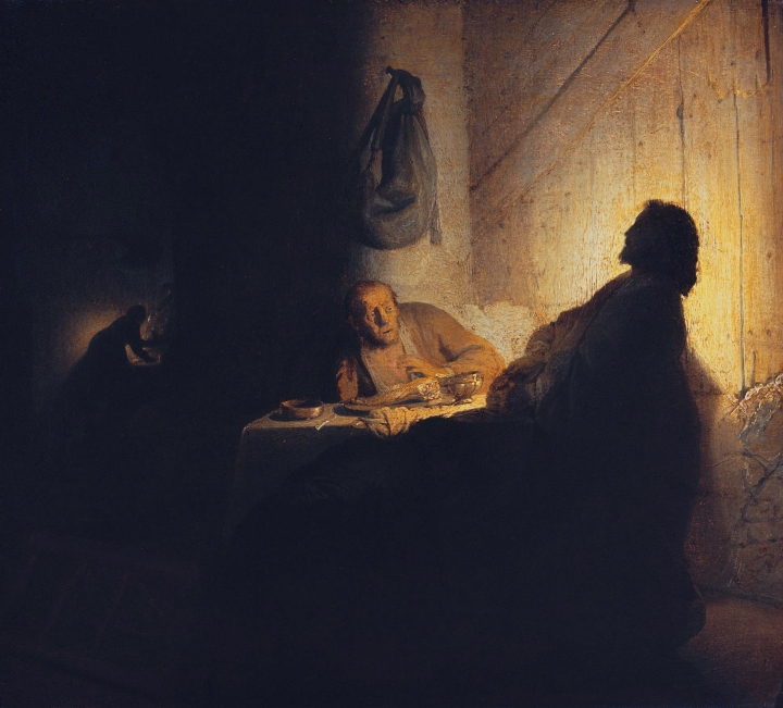 The supper at Emmaus, by Rembrandt