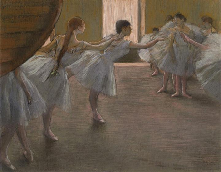 Danseuses à la répétition -Degas- Танцовщицы на
