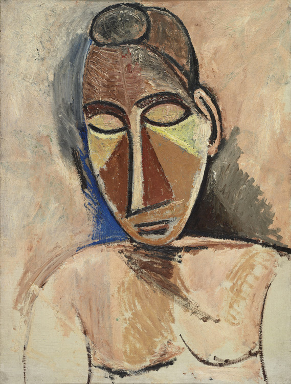 Buste de femme nue -Picasso- Обнаженная женщина