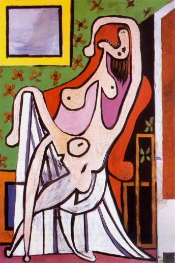 Grand nu rouge dans son fauteuil, Picasso