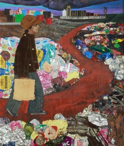 """Affiche de l'exposition """"Juanito y Ramona"""" au MALBA en 2014/2015"""