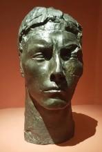 """Tête d'Apollon, étude dite """"pleine"""" avec cou (1909)"""