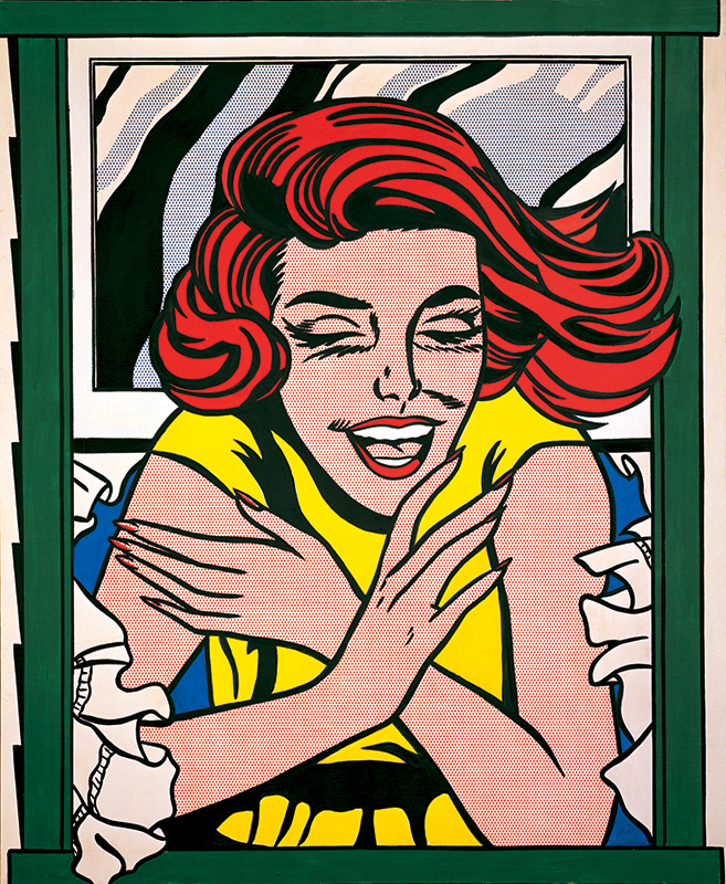 Lichtenstein girl in the window