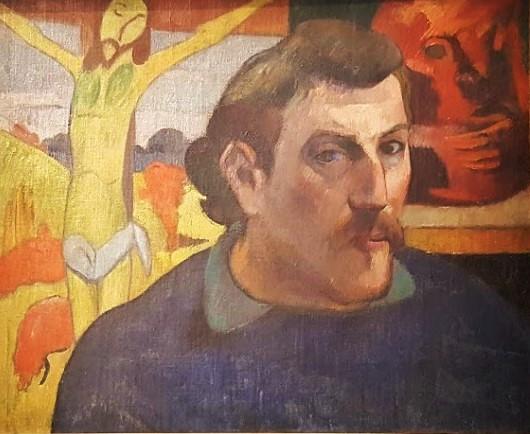 Portrait au christ jaune