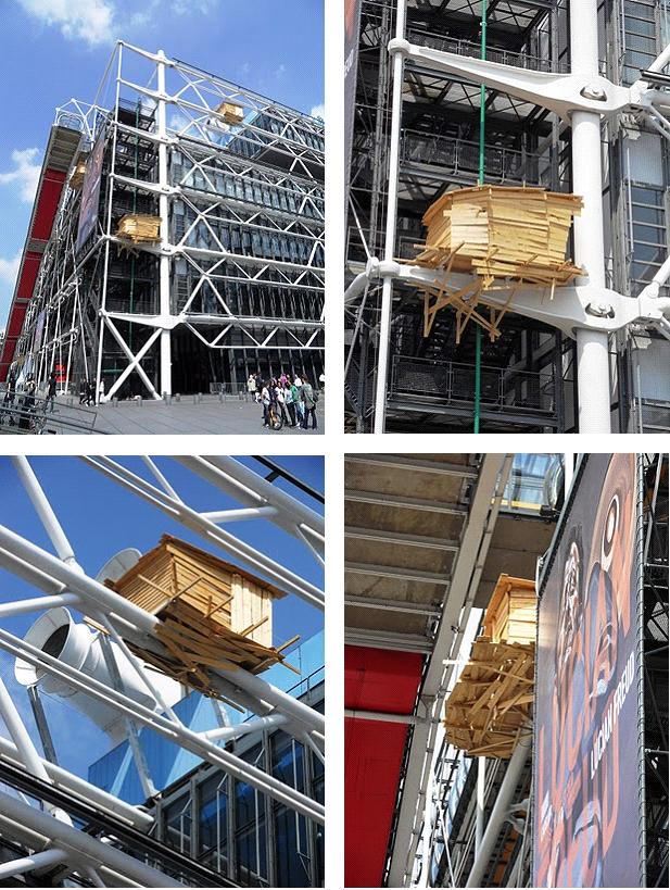 Tadashi-Kawamata-Huts-installations-sur-les-façades-du-Centre-Georges-Pompidou-Paris-du-10-avril-au-23-août-2010