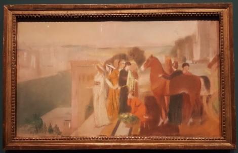"""Etude pour le tableau """"Sémiramis construisant Babylone"""""""