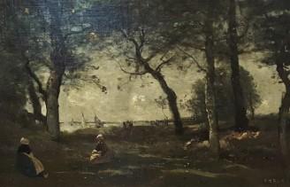 """Camille Corot, """"Honfleur"""" (1850-1870, Musée des Beaux-Arts de Reims)"""