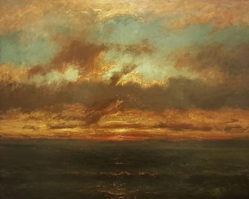 Jules Dupré, Soleil couchant sur un rivage (Musée Louis Senlecq, Isle-Adam)