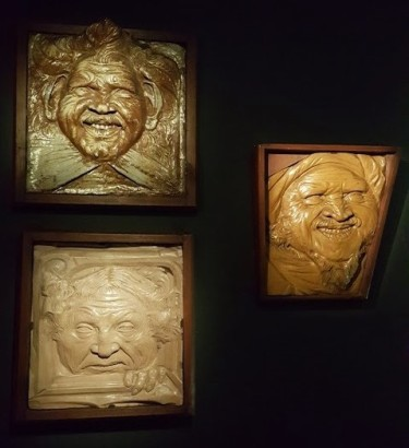 Jean Carriès, Masques grotesques de la Porte de Parsifal (1891)