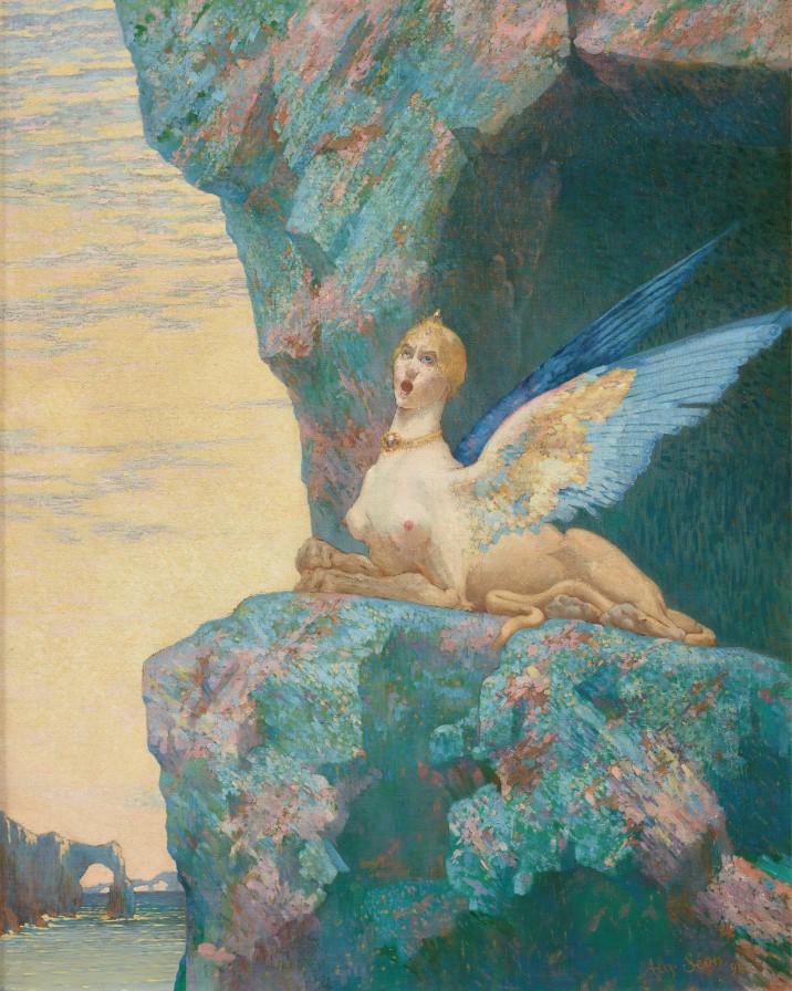 Alexandre Séon, Le Désespoir de la Chimère (1890) @Thomas Hennocque