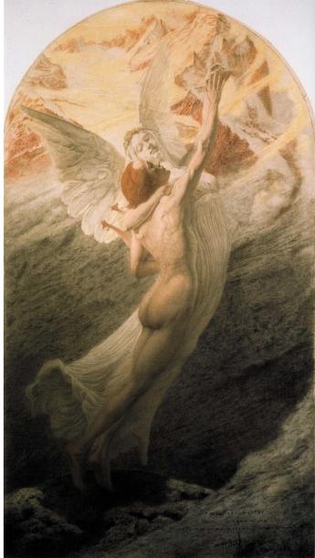 Carlos Schwabe, Le Mariage du poète et de la muse, L'Idéal (1902) © Thomas Hennocque