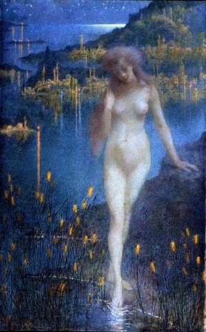 Lucien Lévy-Dhurmer, Nocturne sur le Bosphore (ca. 1897) @Thomas Hennocque
