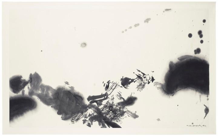 Sans titre, encre et lavis, 89 x 116 cm.
