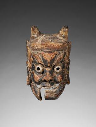 Masque du théâtre Nuo : Kaishan, celui qui ouvre la montagne - © musée du quai Branly - Jacques Chirac, photo Patrick Gries