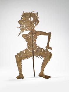 Figurine de théâtre d'ombres: esprit masculin (Phi Chin) (1930) - © musée du quai Branly - Jacques Chirac, photo Claude Germain