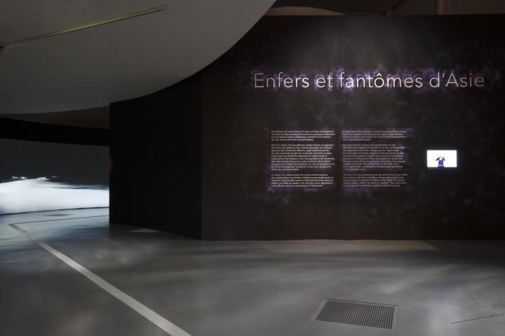 """MQB. Vue de l'exposition temporaire : """"Enfers et fantômes d'Asie"""". Du 10 avril au 15 juillet 2018."""