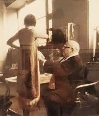 Boris Lipnitzki - Paul Poiret, couturier français, pendant un essayage (Paris, 1933)