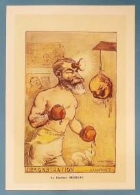 Georges Villa, Caricature du Dr Pierre Sébileau (laryngologue), 1913