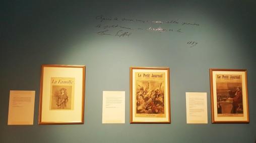 Lettres de Louis Beurnier et extraits de journaux en lien avec leur contenu