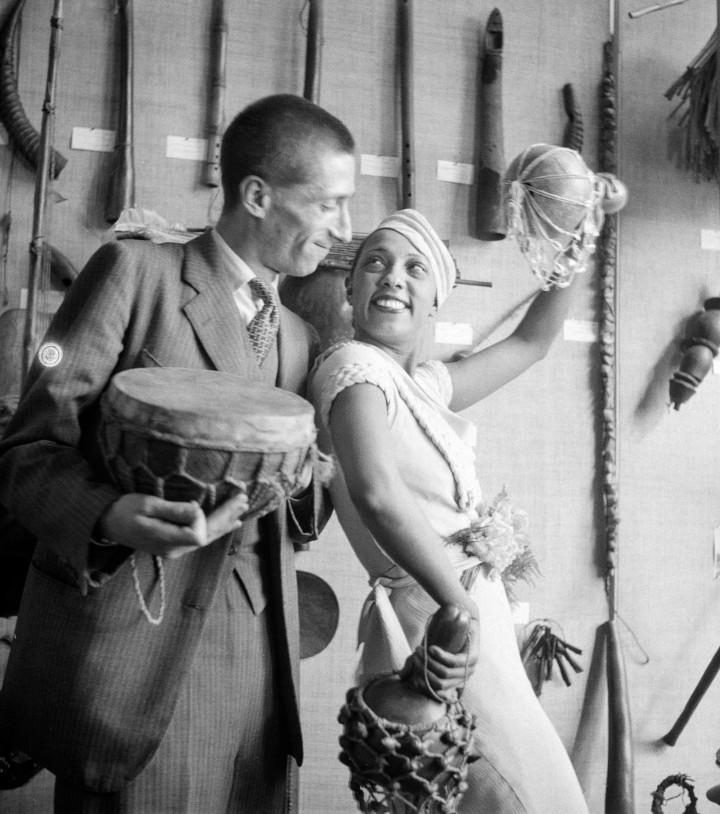 JosÈphine Baker et Georges-Henri RiviËre