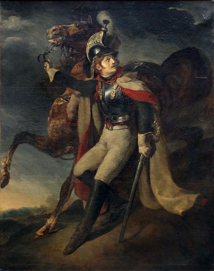 Théodore_géricault,_corazziere_ferito_che_abbandona_il_fuoco,_ante_1814,_01