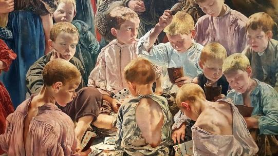 Léon Frederic (1856 – 1940) Les Ages de l'ouvrier (détail) 1895-1897 Triptyque, huile sur toile Musée d'Orsay, Paris © RMN - Grand Palais (musée d'Orsay) / Hervé Lewandowski